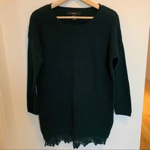 Forever 21 green forest sweater dress